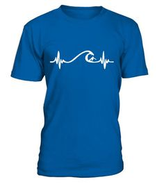 Surfing Heart beat and waves  #tshirts #fashion