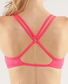 Swim alternative w/ board shorts  Lululemon: Centered Energy Bra