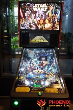 Even though its a brand new pinball, this Star Wars Pinball still has that vintage retro feel that is great for corporate themed parties, like Back to the or just a Retro Theme. Arcade Room, Wedding Reception Games, Skee Ball, Star Wars Games, Carnival Games, Old Games, Fun Events, Event Ideas, Party Ideas