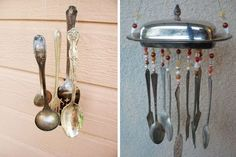 wind chimes from cutlery