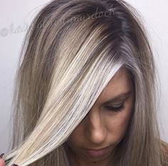 Baby lights, babylights, shadow root, root smudge, balayage, ash blonde, ashy blonde, cool blonde, icy blonde, highlights, blonde, hair, money piece, ashy roots, ombré, Keune hair color, Shades EQ, Shades EQ shadow root, 7N, 7P