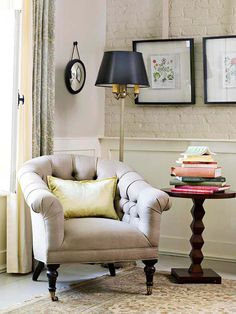 It's an age-old decorating adage: light colors open up a room, while dark colors keep a space cozy: http://www.bhg.com/decorating/small-spaces/strategies/space-solution-every-room/?socsrc=bhgpin052714smallroomwhite&page=11