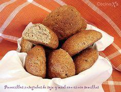 Cocinax2. Las recetas de Laurita.: Panecillos integrales de leche de soja y miel