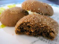 molasses spice cookies w/big sugar on top!