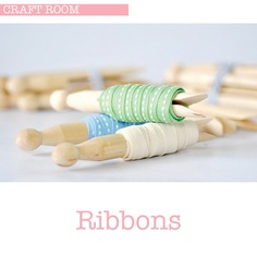 Store ribbons around a dolly peg