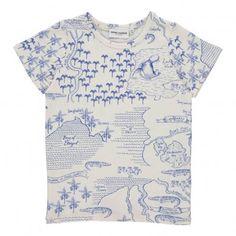 161fa4143b879 Croco Map Print T-Shirt White Mini Rodini Maps For Kids