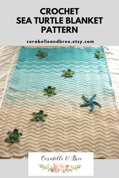 Crochet Turtle Pattern Free, Crochet Baby Blanket Free Pattern, Crochet For Beginners Blanket, Crochet Cross, Knit Or Crochet, Crochet Stitches, Knitting Patterns, Crochet Patterns, Beach Crochet