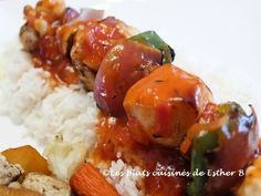 Sauce Anglaise, Esther, Sauces, Grains, Meat, Chicken, Wine Sauce, Recipe, Skewers