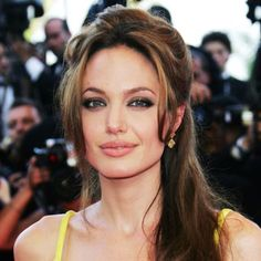 Angelina Jolie's Changing Looks - 2007 from Celebrity Hairstyles, Up Hairstyles, Jennifer Aniston, Jennifer Lopez, Cannes, Angelina Jolie Makeup, Hair Up Styles, Hair Again, Thing 1