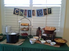 Chili and baked potato bar