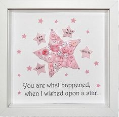 New Baby Gift ~ Nursery Wall Art ~ Star Button Art~ New Baby Gift~ Christening Gift~ Baby Shower Gift~ Button Art ~ Star Nursery Decor. What Happens At A Baby Shower |  Baby Shower Ideas  | Things To Do At A Baby Shower Besides Games | Baby Shower Menu Budget. #dugun #Crafts. Check out the image by visiting the link.