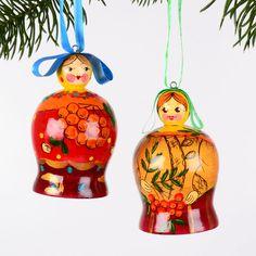 Russian Girls Xmas Ornaments