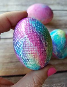 This popular tie dye Easter egg decorating idea is going around (saw it on One Little Project) and just had to try for myself! She used neon food coloring but I wanted to see how it'd look with just regular ones.   Supplies Needed: Food Coloring Hard boiled egg Kleenex or Paper Towel Rubberband/hair binder …