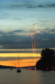 4th of July at the Lake, Cayuga Lake, Ithaca Susan Verberg Pittsburgh, Pennsylvania