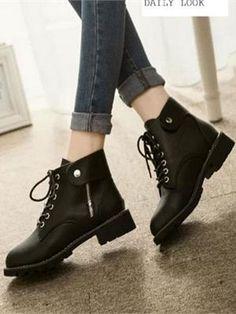 Giày boot da cá tính NU 549