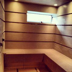 Chadds ford spa bathroom in progress.  Floor to ceiling tile!  #design #spa #bathroom #tile #interiordesign