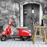 Fototapete Red Scooter sw     wall-art.de Wall Art, Red, Pictures, Photo Wallpaper, Wallpapers, Decorating, Wall Decor