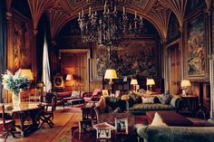 Eastnor Castle Near Wales, drawing room, classic, historic, photo by John… Eastnor Castle, English Country Manor, Gothic Interior, English Decor, Victorian Interiors, Drawing Room, Castle Drawing, My Living Room, My New Room