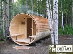 Minion housing near my forest supervillain retreat.| A neat round tiny house house
