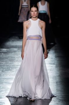 "<p tabindex=""-1"" class=""tmt-composer-block-format-target tmt-composer-current-target"">Prabal Gurung Spring 2015, Look 37: The prettiest dress I saw all week. If I didn't already have a wedding dress, I'd strongly considering buying this one, despite the unconventional sporty racer front"