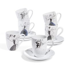 mug de voyage en porcelaine blanc noir n ud maisons du. Black Bedroom Furniture Sets. Home Design Ideas