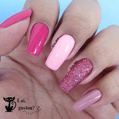 Pink Acrylic Nails, Acrylic Nail Designs, Aycrlic Nails, Manicure, Nail Art Designs Videos, Girls Nails, Instagram Nails, Powder Nails, Stylish Nails