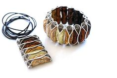 Ketten lang - Kaffeekapsel Kette braun - ein Designerstück von frollein-mueller bei DaWanda