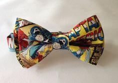 Kirby's Back! Marvel Comics Captain America  Bow Tie! Avengers! Superheroes! https://www.etsy.com/listing/198407323/marvel-comics-captain-america-bow-tie?ref=listing-shop-header-4