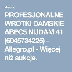 PROFESJONALNE WROTKI DAMSKIE ABEC5 NIJDAM 41 (6045734225) - Allegro.pl - Więcej niż aukcje.