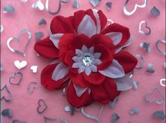 Fire and Ice Valentines FlowerTabi's Creative Creatures Tabi's Elegant Hair Pieces by TabiCreativeCreature on Etsy