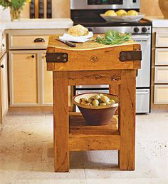 If You Are Short On E Try An Antique Butcher Block Ed To A Sy Mesquite