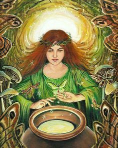 Goddess Airmid She rules over magic, healing, learning, Herbalism and the complexities of family relationships