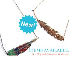 A Feather Statement Necklace Giveaway