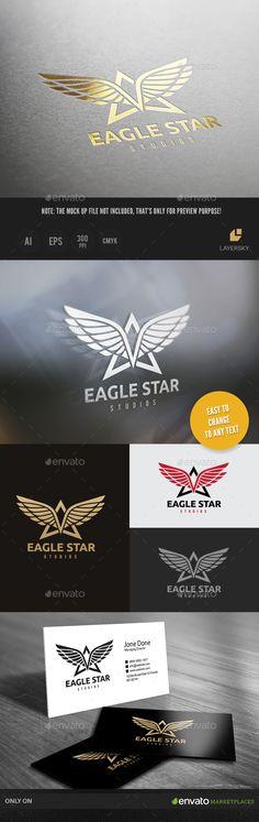 Eagle Star Logo Template Vector EPS, AI. Download here: http://graphicriver.net/item/eagle-star-logo/15022075?ref=ksioks