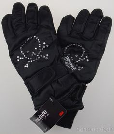 Joe Boxer Men/'s Fleece 40g Thinsulate Ski Gloves  Black Grey or Camouflage Camo