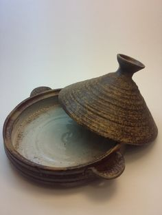 Ceramics by Crissy Hodges-Chakrani - Moroccan wood-fired ceramic tajine dish – pottery tagine