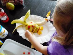 DIY make your own #foodimal party! Healthy fruit snacking for kids inspired by Fruit Cockatiel from Cloudy With a Chance of Meatballs 2 Blu-ray and Digital #Cloudy2