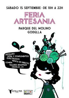 Cartel feria de artesanía en Godella, del 09/2012 - 10/2012. Simple, pero genial