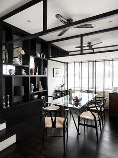 Oriental Interior Design - Decoration Home Interior Design Principles, Interior Design Images, Black White Rooms, Modern Asian, Bookshelf Design, Oriental Design, How To Clean Furniture, White Decor, Interiores Design