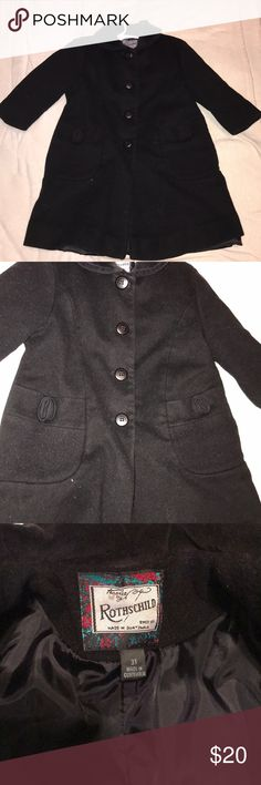 MAKE AN OFFER! Girls Size 3T Rothschild Peacoat MAKE AN OFFER! Girls Size 3T Rothschild Pea Coat. Gently used (outgrown)  Very good condition. Rothschild Jackets & Coats Pea Coats