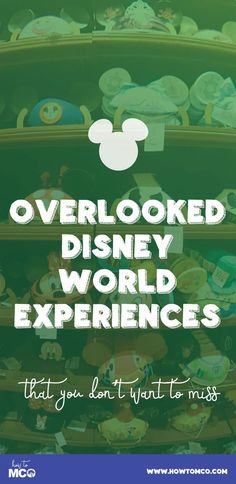WOW! I need to circle back and do some of these attractions we normally skip over at Disney World!