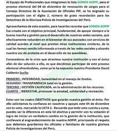 PROMOCION DE OFICIALES PIP: ESTIMADOS ASOCIADOS DE LA AOPIP