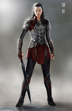 ArtStation - Thor Ragnarok, Christian Cordella Sif knights of three female fighter / knight with sword character inpiration for DnD / Pathfinder Source by yeahqueengirl clothes ideas Fantasy Female Warrior, Female Armor, Fantasy Armor, Medieval Fantasy, Dnd Characters, Fantasy Characters, Female Characters, Fantasy Character Design, Character Inspiration