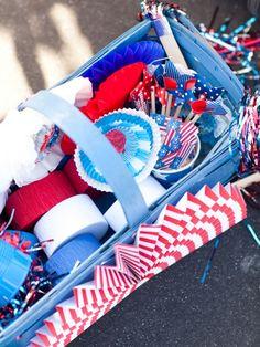 Basket full of festive goodies