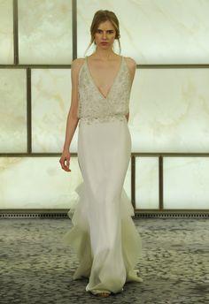 Sheath Wedding Dress Plunging V-neck | Rivini Fall 2015 | blog.theknot.com