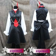 Women Black White Cosplay Dress Suit Clothing Costumes Halloween SKU-131265