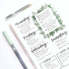 "195 kedvelés, 5 hozzászólás – Bullet Journal and Planners (@discoverbulletjournal_planners) Instagram-hozzászólása: ""Absolutely lovely! ❤ reposted with permission from @tashletters - Simple little spread I made for…"""