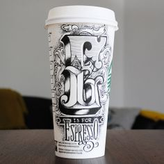 Illustrating on disposable coffee cups