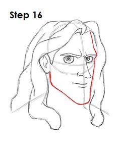 Draw Tarzan Step 16
