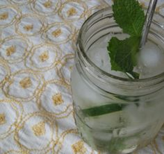 cucumber, mint & basil cocktail.